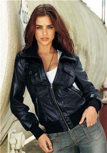 Элегантная женская кожаная курточка