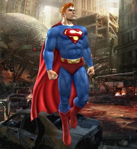Красные труселя - главное в наряде Супермэна