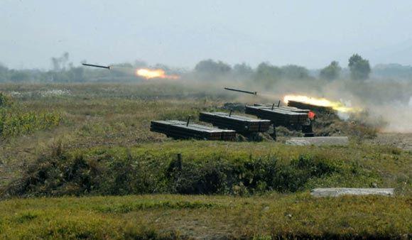 КНДР произвела запуск 10 ракет малой дальности