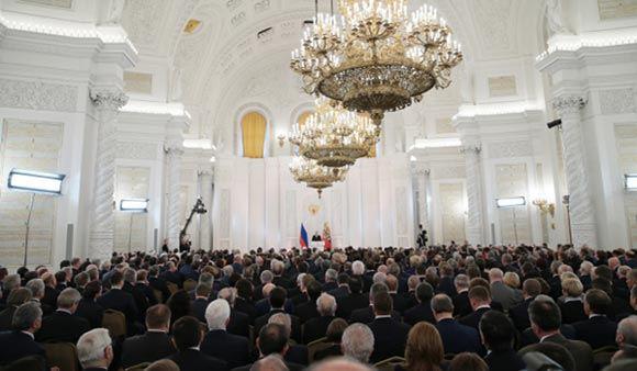 18 марта президент РФ выступит перед Федеральным собранием