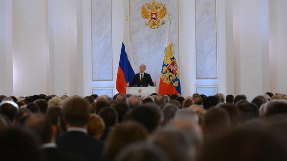 Константинов и Аксенов присутствует на выступлении Путина перед Федеральным собранием