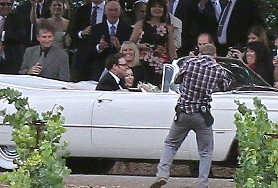 Actor Seth Rogen and Lauren Miller's Wedding