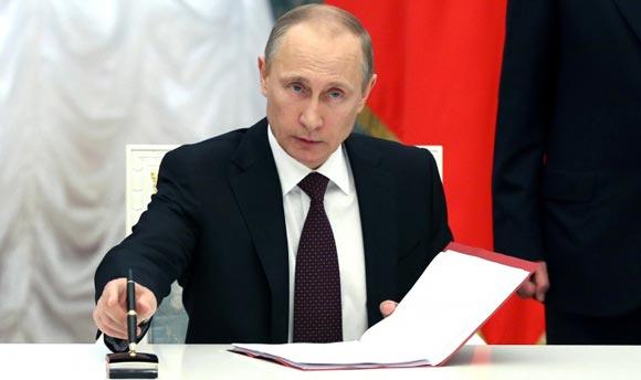 Путин отдал указ о создании и в Крыму органов исполнительной власти РФ