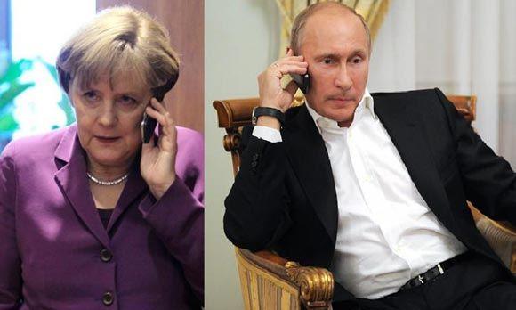 Путин снова осудил с Меркель ситуацию на Украине