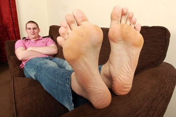 Karl Griffiths - the man with the largest foot size