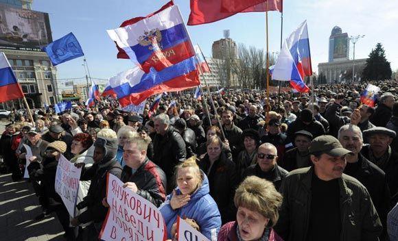 В Донецке пророссийские активисты заблокировали вокзал