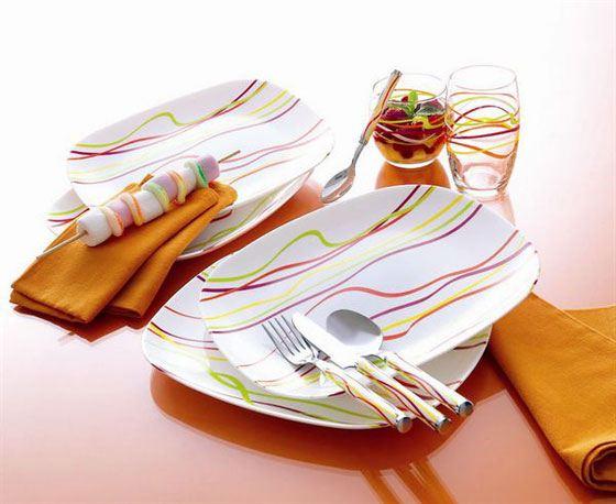 Полуда люминарк веселых расцветок создаст радостное настроение за столом