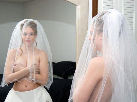 Свадьба эксбиционистов: голая невеста