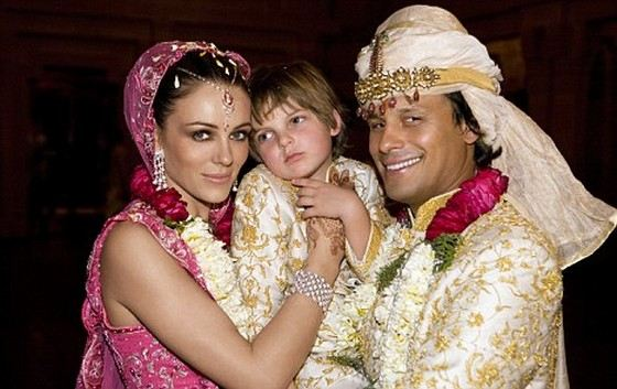 The wedding of actress Liz Hurley was held in two countries