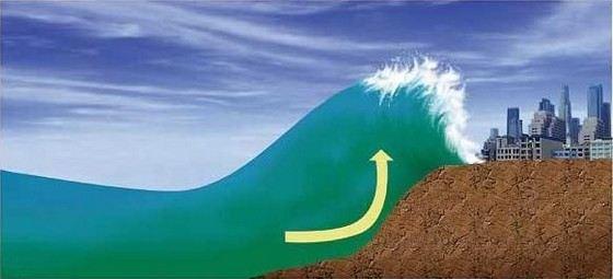 Большие цунами особенно опасны на побережье
