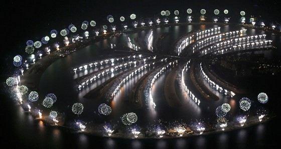 Салют в Дубаи в честь нового 2014 года