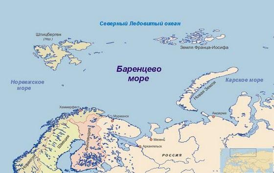 Баренцево море - самое соленое в России