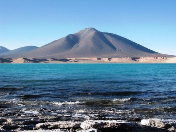 The largest volcano in the world, Ojos del Salado is considered extinct