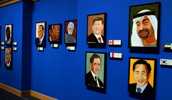 Джордж Буш-младший нарисовал Путина и других мировых лидеров
