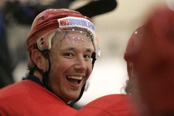 Hockey player Ilya Kovalchuk different external data