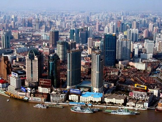 Шанхай - самый густонаселенный город в Азии