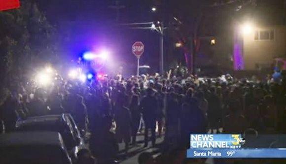 Студенческое сборище в Калифорнии закончилось столкновениями с полицией