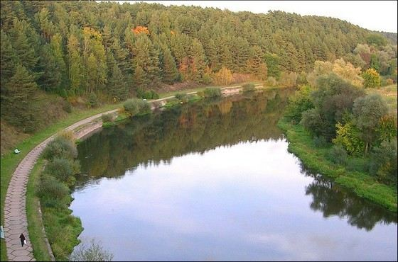 The Moscow River, though not the cleanest, but very popular river in the Moscow region