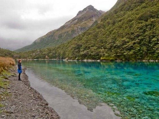 В самом чистом Голубом озере в Новой Зеландии запрещено купаться