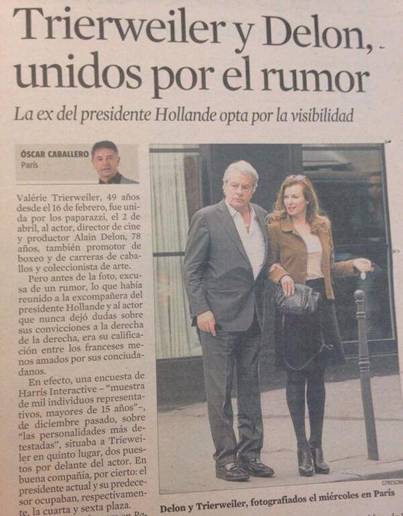 СМИ: Ален Делон встречается с Валери Триервейлер