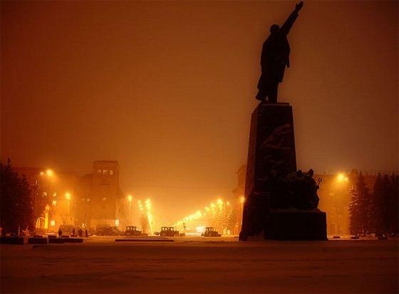 Проспект Ленина в Запорожье самая длинная улица в Европе