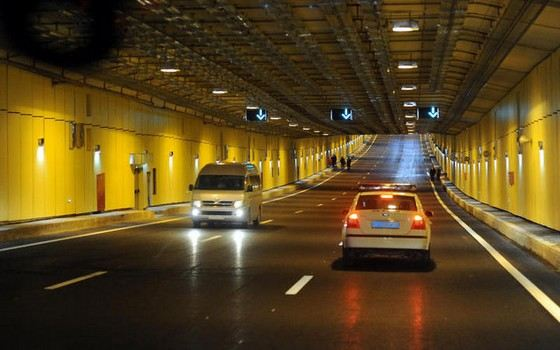The tunnel under the Silver Bor is the longest in Moscow