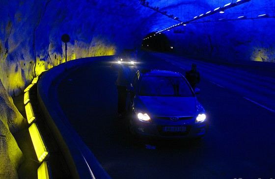 Lerdale tunnel is the longest in the world for cars