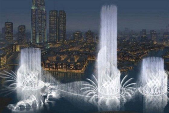 Красивейший фонтан в Дубаи