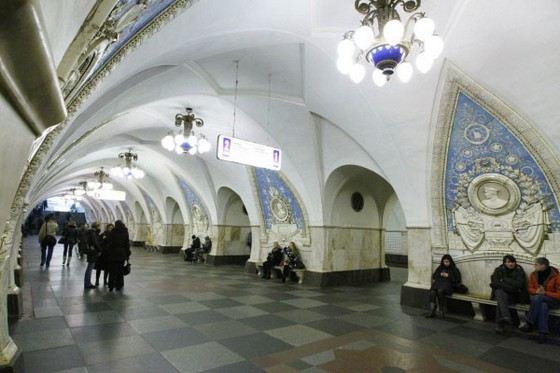 Уникальные панно на станции «Таганская»