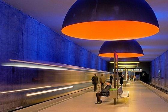 Станция метро Westfriedhof одна из самых красивых в Европе