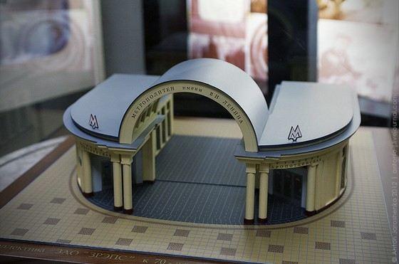 Экспонат музея метро в Москве