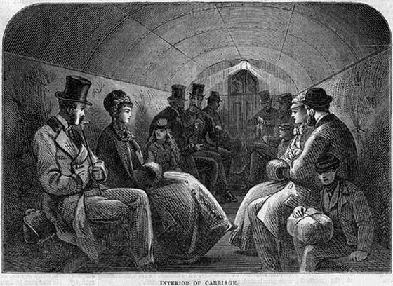 Примерно так выглядело первое в мире лондонское метро
