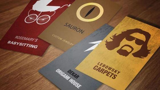 Итальянские дизайнеры создали визитки по мотивам фильмов