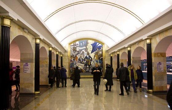Адмиралтейская - одна из самых глубоких станций метро в мире