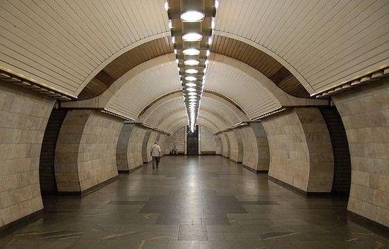 Печерская - одна из самых глубоких станций метро в Киеве