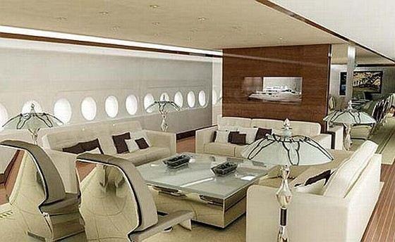 Салон самого дорогого в мире частного самолета