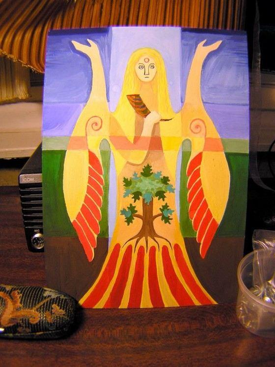 Богиня Макошь длиннорукая женщина