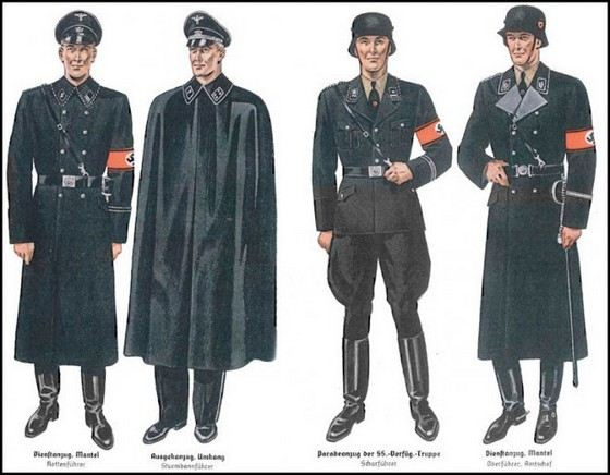 Фашистская военная форма считалась очень красивой