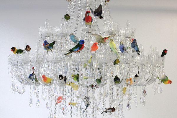 Люстра с птицами