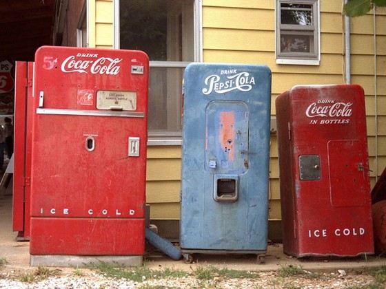 Внезапно убить может даже автомат с Кока-колой