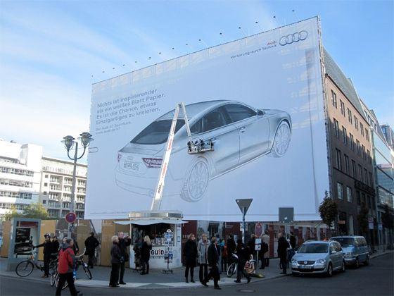 Рекламный билборд обеспечивает привлечение повышенного внимания