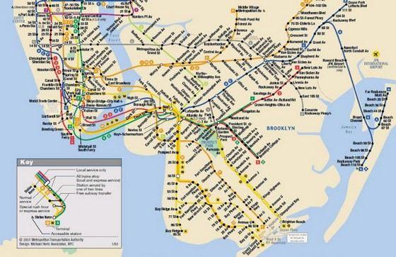 В Нью-Йорке самая длинная сеть веток метро