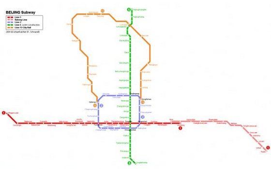 Оранжевая ветка метро в Пекина