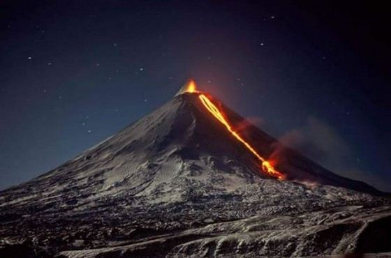 Ключевский не только самый большой из действующих, но и самый активный вулкан в России