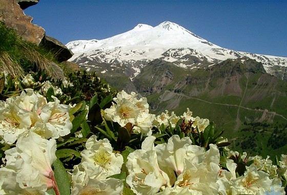 Самый большой вулкан в России Эльбрус