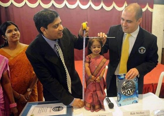 Jyoti Amge is the smallest woman to date