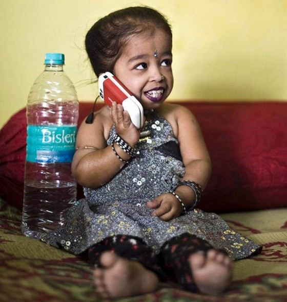 The smallest woman in the world lives in India