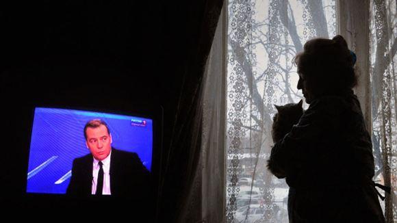 В Краматорске отключены российские телеканалы