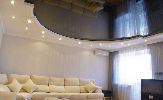 Навесные потолки - идеальны для современных квартир