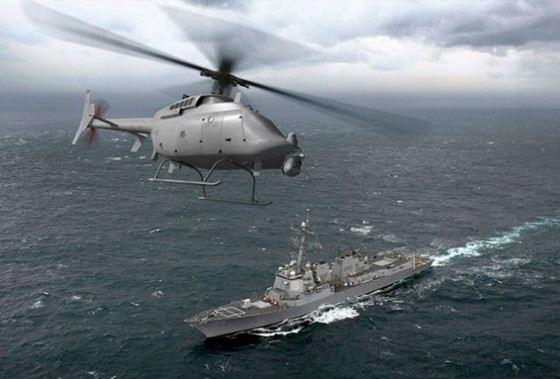 MQ-8C«Fire Scout» самый большой беспилотный вертолет